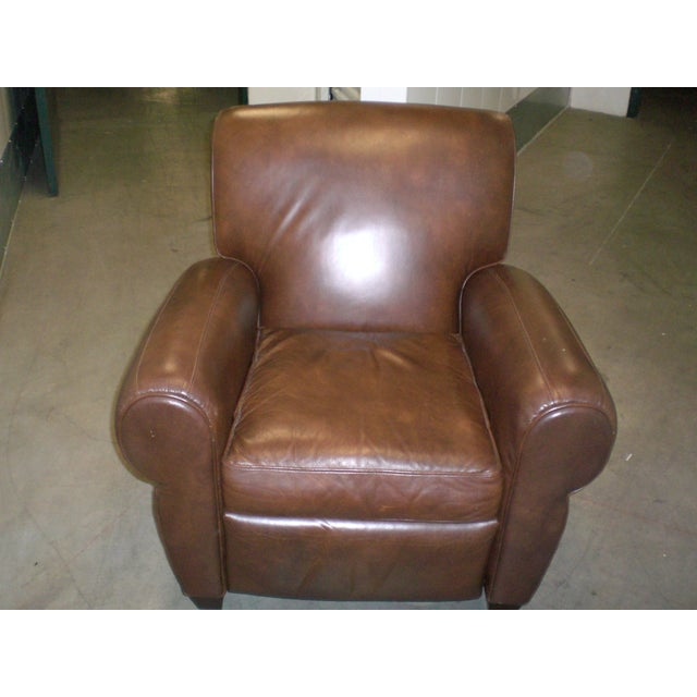 Image of Leather Recliner Club Chair