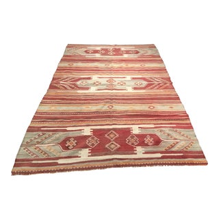 "Bellwether Rugs Vintage Turkish Kilim Rug - 4'11"" x 7'9"""