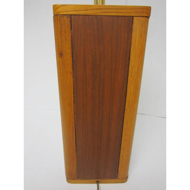 Mid Century Modern Solid Wood Table Lamp - Image 8 of 10