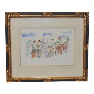 C. 1961 Jacques Villon Original Color Aquatint