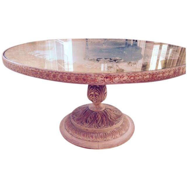 Round Glass Top Coffee Table Chairish