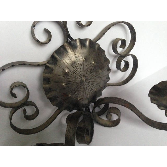 Spanish Revival-Style Candle Sconces- A Pair - Image 5 of 11