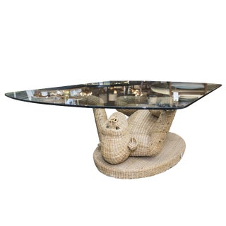 Monkey Coffee Table With Glass Top