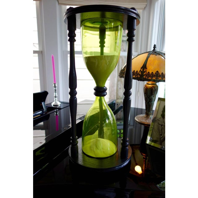 Image of Vintage Giant Green Hourglass