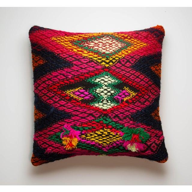 "16"" x 16"" Red Kilim Pillowcase - Image 2 of 3"