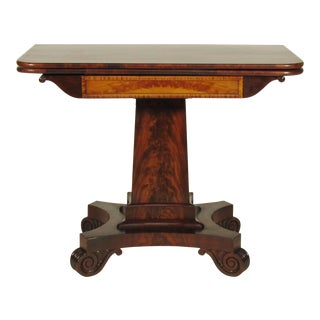 19th Century American Empire Card Table