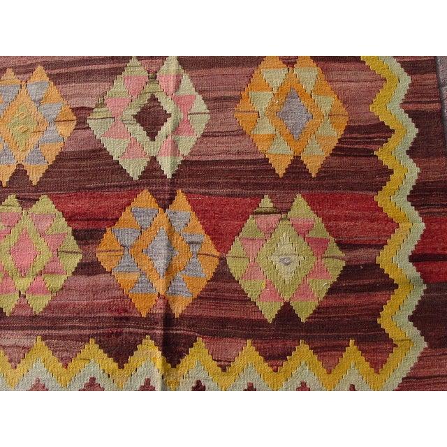 """Vintage Turkish Kilim Rug - 4'11"""" x 6'11"""" - Image 8 of 11"""