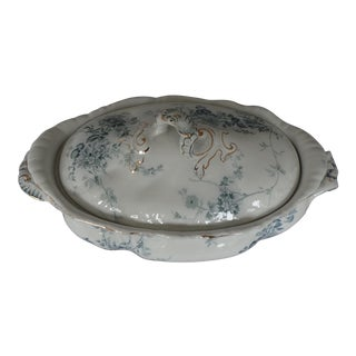Elegant Porcelain Serving Covered Bowl