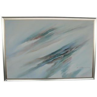 Abstract Oil on Canvas Painting by J. Hamilton