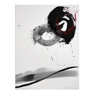 Nakajima Hiroyuki Sho Japanese Modern Art Calligraphy Sunrise Acrylic on Canvas