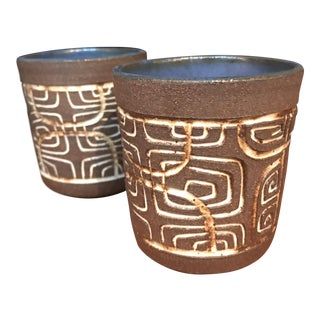 Ceramic Tiki Cups- A Pair