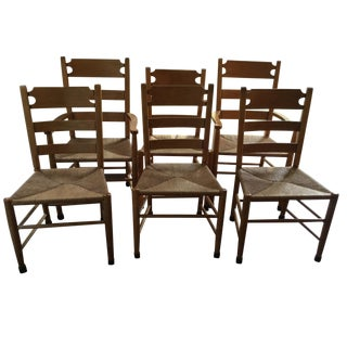 Ethan Allen Rustic Dining Chair Set - 6