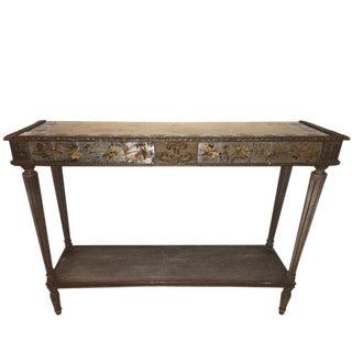 Maison Jansen Louis XVI Style Églomisé Console Table