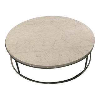 Restoration Hardware Marble Round Coffee Table