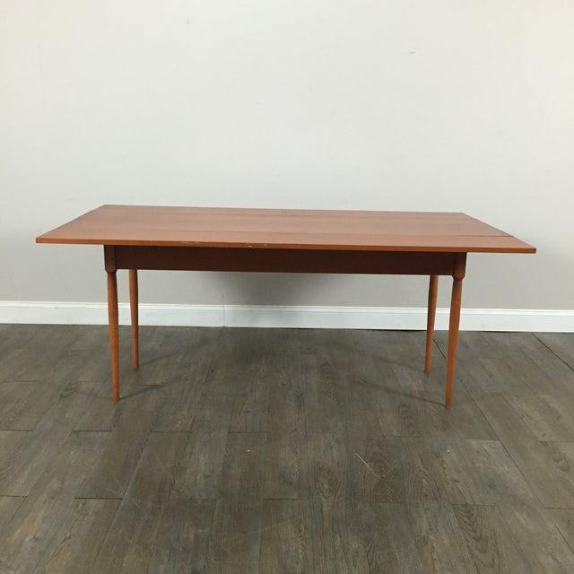 vintage mid century folding leaf dining table chairish
