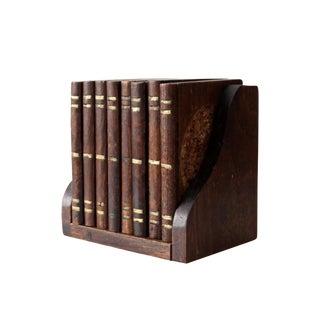 Vintage Wood Coasters With Box - Set of 9