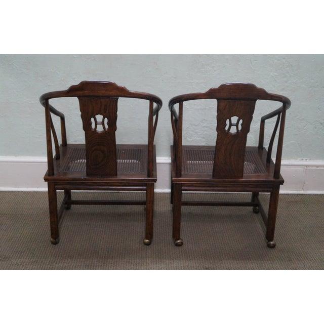 Henredon Elm Wood Dining Chairs Set Of 8 Chairish