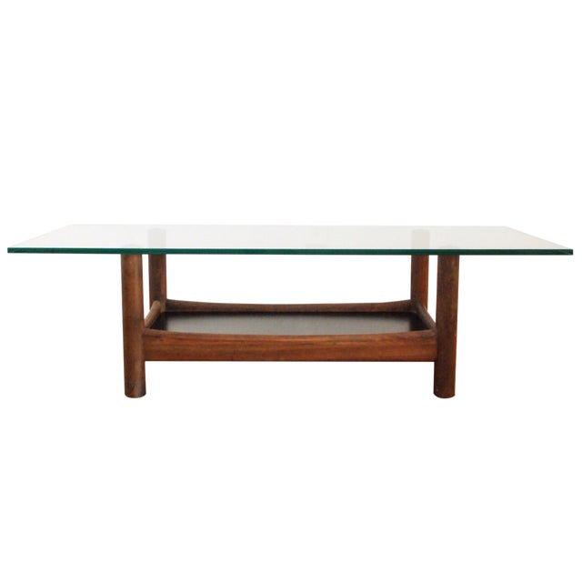 Mid-Century Teak and Glass Coffee Table - Image 1 of 6