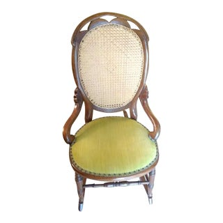 Lincoln Cane Back Rocking Chair