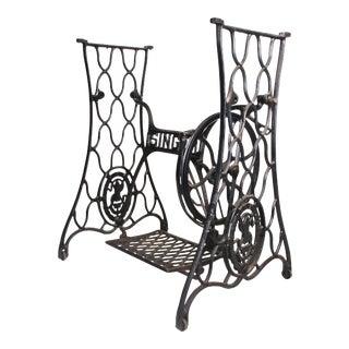 Vintage Industrial Black Iron Singer Sewing Machine Base