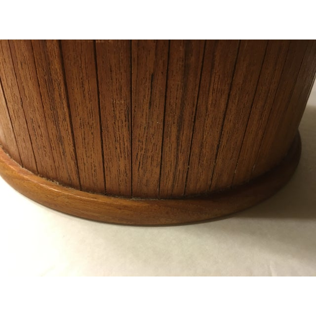 Mid-Centry Teak Panel Ice Bucket - Image 8 of 9
