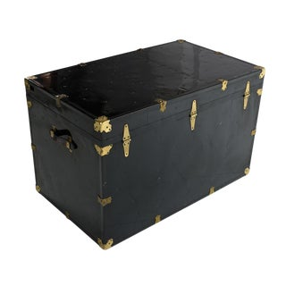 Black Enamel Steamer Trunk