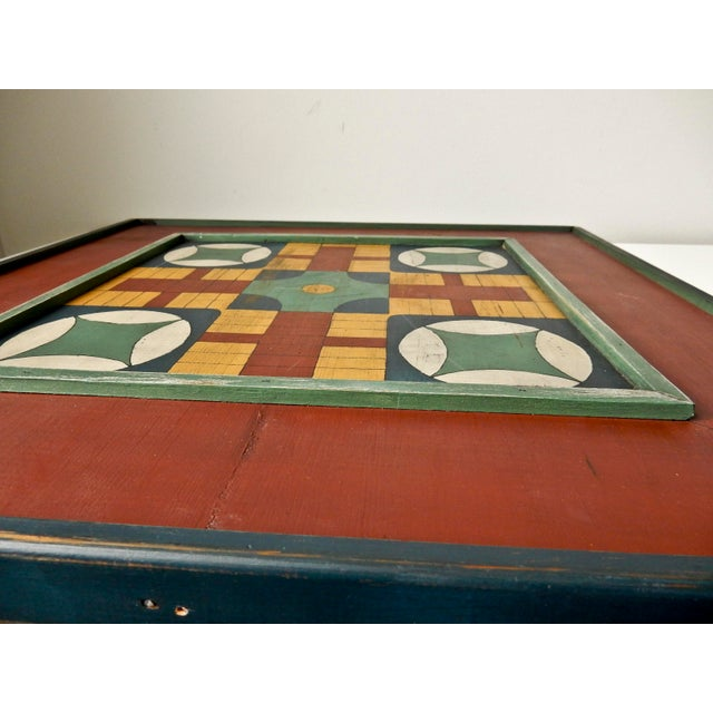 Hand Painted Parcheesi & Checkers Gameboard - Image 4 of 6