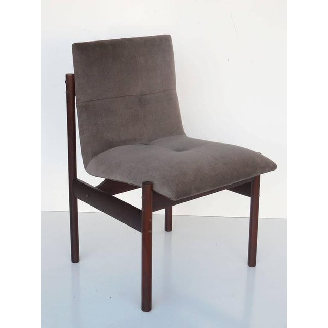 Image of Four Rosewood Dining Chairs by Celina Moveis, Brazil 1960s