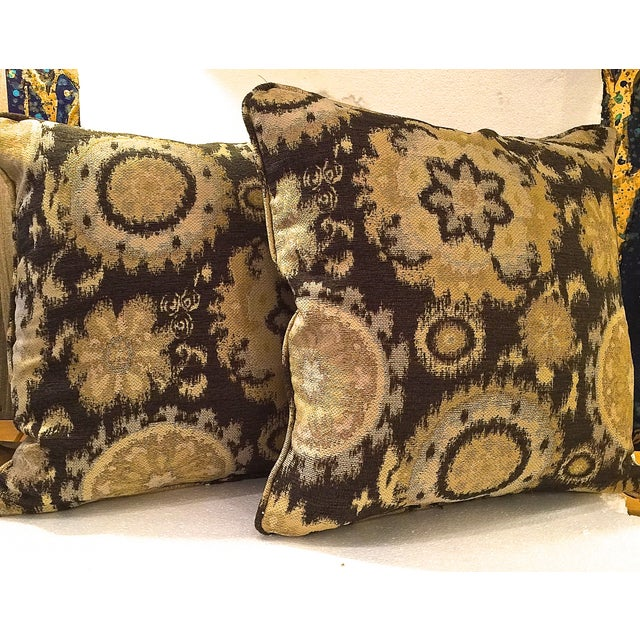 Modern Gold Pillows : Modern Gold Tapestry Pillows - A Pair Chairish