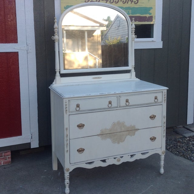Vintage Shabby Chic Dresser with Mirror - Image 2 of 5