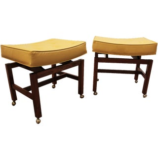 Jens Risom Floating-Top Stools - A Pair