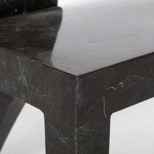 Maitland Smith Tessellated Postmodern High-Back Chair - Image 5 of 6