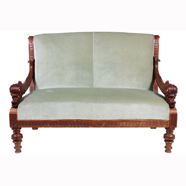 Image of 19th C. Renaissance Revival Dolphin Sofa