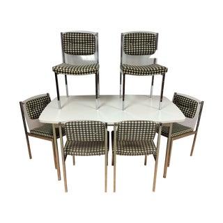 Mid-Century Chrome & Lucite Dining Set - Set of 7