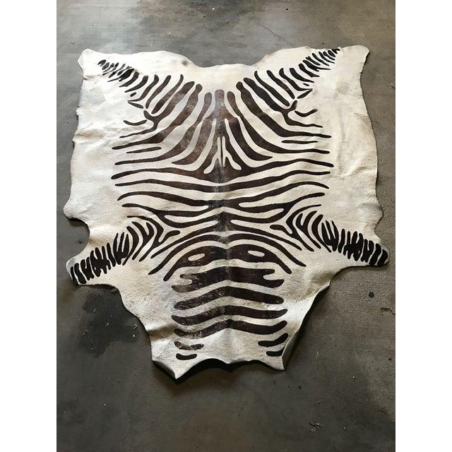 Zebra Rug Faux: Faux Zebra Hide Rug - 5' X 7'