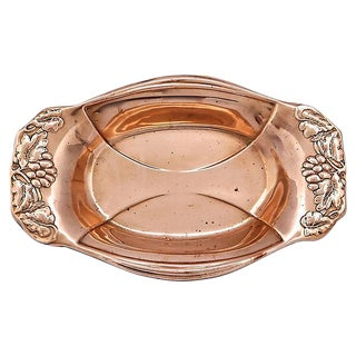Grapevine Border English Copper Dish
