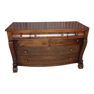 Victorian Empire Revival Walnut Chest of Drawers