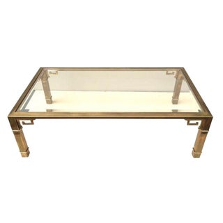Mastercraft Brass and Glass Cocktail Table