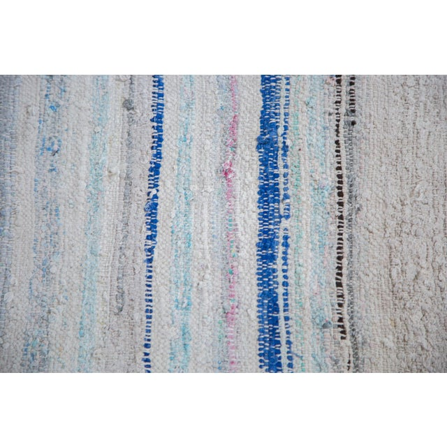 "Vintage Rag Rug Carpet - 6'9"" X 7'2"""