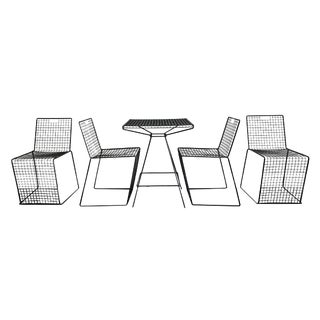 Pacific Iron Style Mid-Century Modern Patio Set - Set of 5