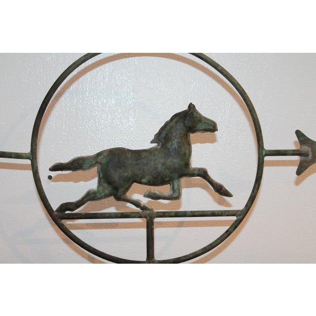 19th Century Running Horse within a Circle Weathervane on Stand - Image 6 of 7