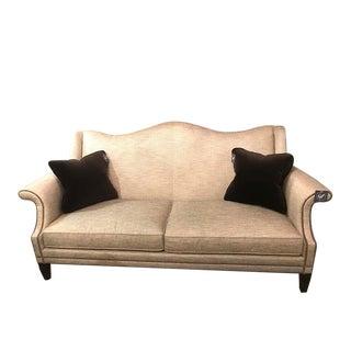 Bernhardt Fitzgerald Camel Back Sofa
