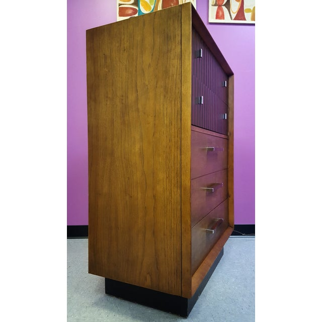 Mid-Century Lane Rosewood Accent Tall Chest - Image 4 of 11