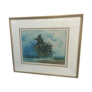 Kaiko Moti Framed Landscape Serigraph