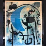 Image of Joan Miro 1980's Lacquer Mounted Italian Poster
