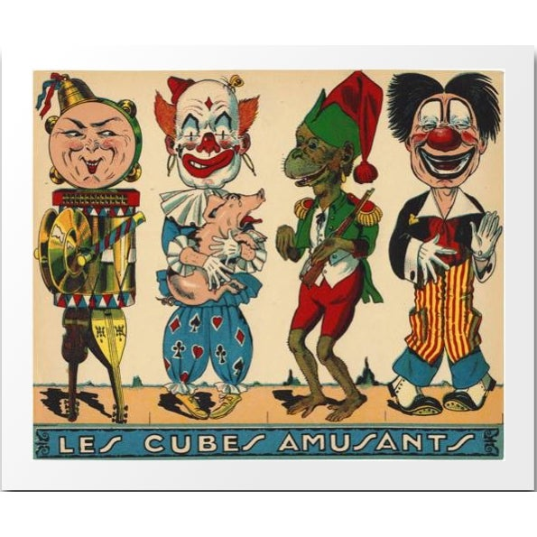 Image of Vintage Les Cubes Amusants Archival Print