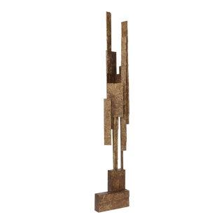 Brutalist Sculptural Bronze Resin Floor Lamp