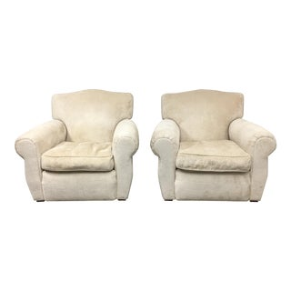 Cream Colored Armchairs by Henredon - A Pair