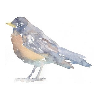 """Lexie Armstrong """"Robin 1"""" Watercolor Paintng"""