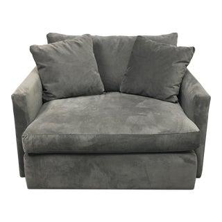 Crate & Barrel Velvet Lounge Chair
